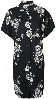 McQ Swallow Floral Oversize Shirt-Dress
