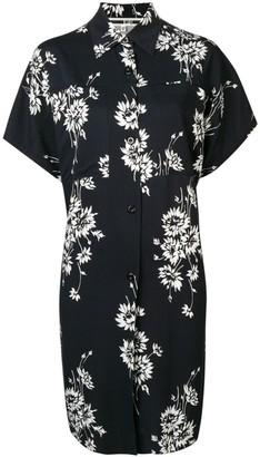 McQ floral oversize shirt-dress