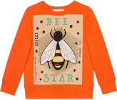 Gucci Kids Children's sweatshirt with Bee Star print