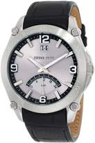 Pierre Petit Men's P-806A Serie Le Mans Dual-Time GMT Sunray Dial Leather Watch
