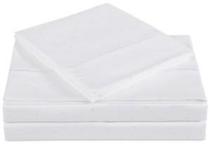 Charisma Closeout! Classic Cotton Sateen 310 Thread Count 4-Pc. Dot Queen Sheet Set Bedding