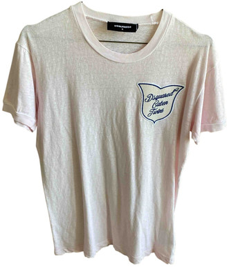 DSQUARED2 Pink Cotton T-shirts