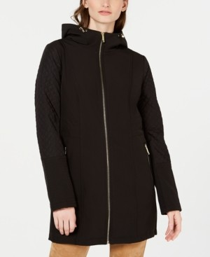 Michael Kors Michael Front Zip Hooded Raincoat, Created for Macy's