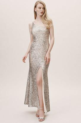 BHLDN Caspian Dress By in Silver Size 16