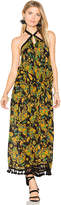 Raga Tropical Paradise Ruffle Halter Dress in Black. - size L (also in M,S,XS)