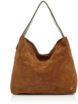 Halston Tina Soft Suede Shoulder Bag