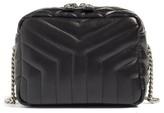Saint Laurent Small Leather Bowling Bag - Black