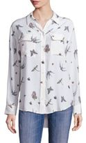 Equipment Slim Signature Jewel Insect Print Blouse