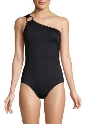 MICHAEL Michael Kors One-Shoulder 1-Piece Swimsuit