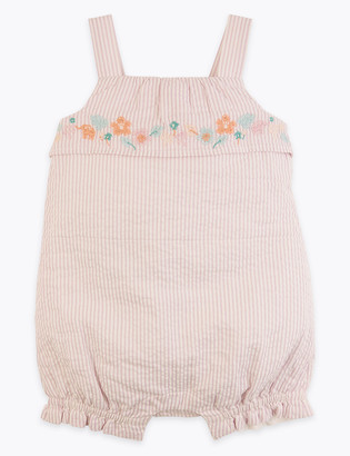 Marks and Spencer Cotton Striped Romper (7lbs - 12 Mths)
