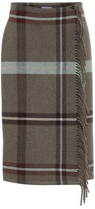 Salvatore Ferragamo Checked wool skirt