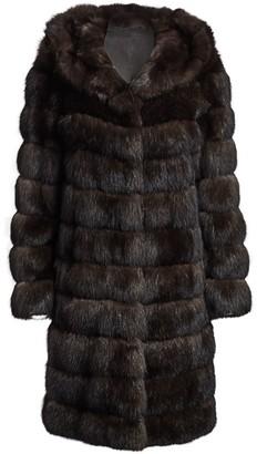 The Fur Salon Hooded Sable Fur Coat