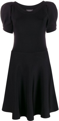 Emporio Armani Woven Puff Sleeve Dress