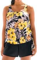 MiYang Plus Size Dew Drops Blouson Plus Size Swimwear Tankini