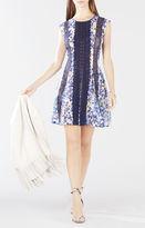 BCBGMAXAZRIA Jalena Printed Lace Stripe Dress