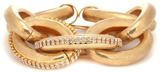 Marni Crystal-embellished chain-link bracelet