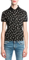 Saint Laurent Moon & Star Polo Shirt, Black