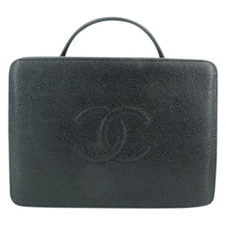Chanel Black Leather Handbags