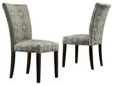 Homelegance Quinby Parson Damask Dining Chair Wood/Blue (Set of 2) - Inspire Q