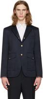 Moncler Gamme Bleu Navy Cargo Pocket Blazer