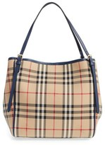 Burberry 'Horseferry Canterbury' Nylon Tote - Blue