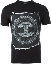 Just Cavalli safety pin print T-shirt
