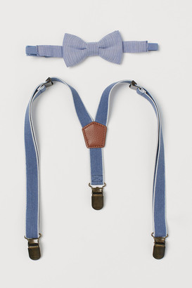 H&M Suspenders and Bow Tie Set