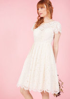 Jenny Yoo Wear and Wow Fit and Flare Dress in Ivory in 0