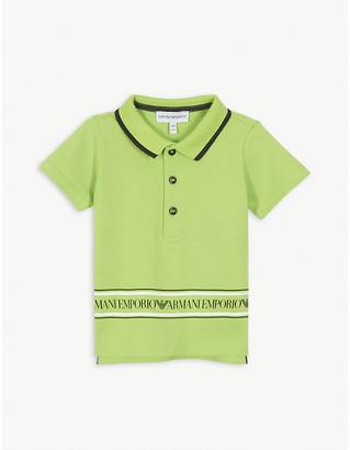 Emporio Armani Logo-print cotton polo shirt 6-36 months