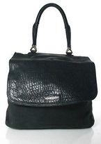 Givenchy Black Textured Leather Silver Tone Hardware Mirte Satchel Handbag