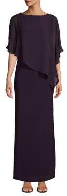 Xscape Evenings Overlay Beaded Gown
