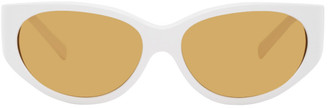 Versace White GV Signature Sunglasses