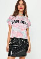 Missguided Washed Fan Girl Graphic Cropped T-Shirt