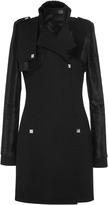 Maxime Simoens Velvet Foal Effect And Cashmere Felt Coat BLACK