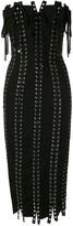 Dolce & Gabbana Strapless Tie Detailed Eyelet Dress