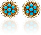Amrapali 18K Gold Turquoise Earrings