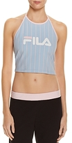 Fila Luann Logo Stripe Halter Crop Top