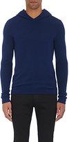 John Varvatos Men's Wool-Cashmere Hoodie-Blue