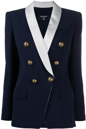 Balmain Oversize Six-Button Blazer Jacket