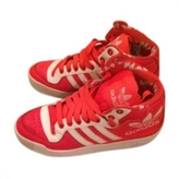 adidas Pink Leather Trainers