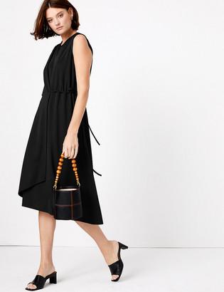 Marks and Spencer Jersey Sleeveless Tie Midi Wrap Dress
