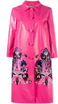 Miu Miu sequin embellished coat - women - Polyester/Viscose/Resin - 40