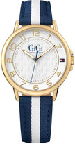 Tommy Hilfiger Gigi Hadid Women's Navy & White Stripe Grosgrain Strap Watch 38mm 1781723