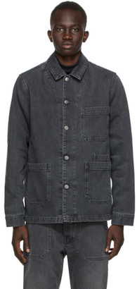 Nanushka Black Denim Theo Jacket