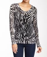 Sisters Gray Zebra Long-Sleeve Tunic