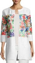 Berek Floral-Inset Crinkle Jacket