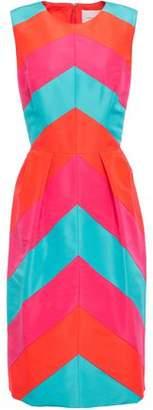 Carolina Herrera Color-block Silk-faille Dress