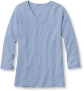 L.L. Bean Bean's Tee, Three-Quarter Sleeve V-Neck