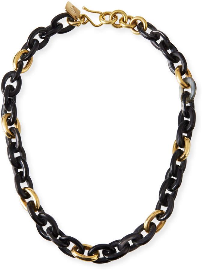 Ashley Pittman Meli Short Collar Necklace in Dark Horn
