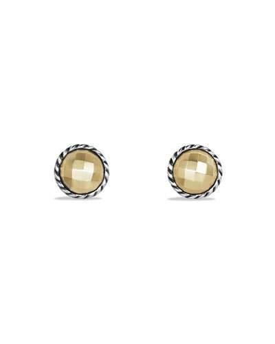 David Yurman Chatelaine Stud Earrings with Gold